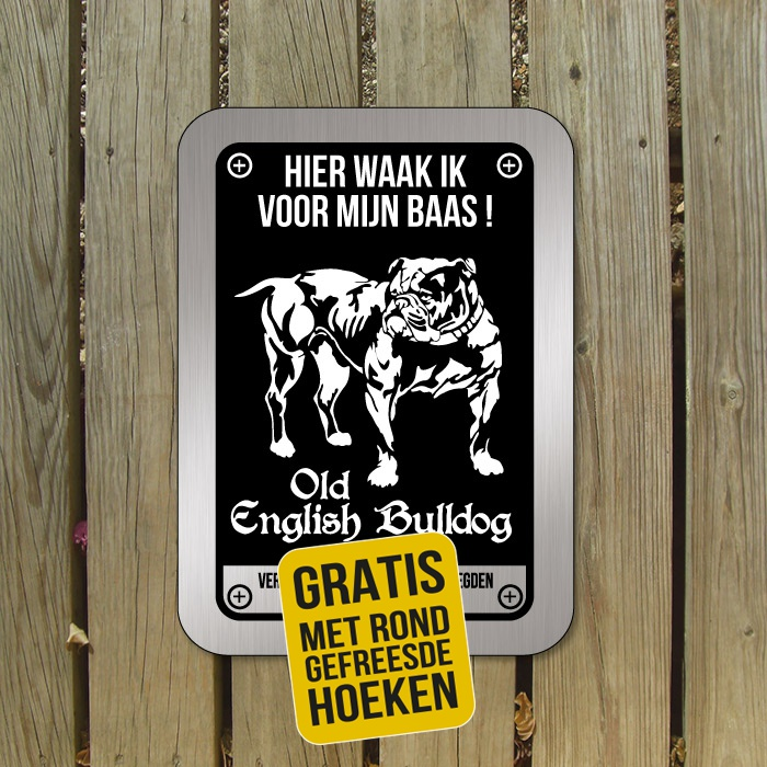 old english bulldog waakbord D3