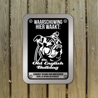 Old English Bulldog waakbord